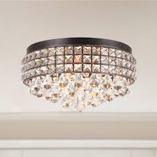 Crystal And Black Chandelier Jolie Iron Shade Crystal Flush Mount Chandelier Iron Shade