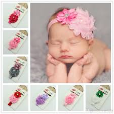 newborn headband baby girl headband newborn headbands shabby chic flower hairband