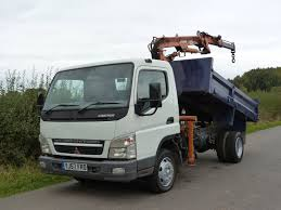 truck mitsubishi canter mitsubishi canter 7c18 4 x 2 tipper with atlas crane
