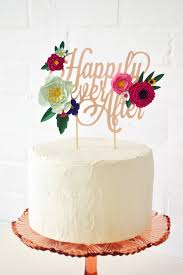 how to your cake topper handmade happily after paper flower cake topper handmade