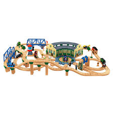 thomas train set wooden table thomas friends wooden railway series tidmouth sheds thomas and