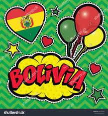 Country Flags Patches Happy Birthday Bolivia Pop Art Fashion Stock Vector 541381000