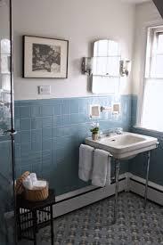 best ideas about bathroom tile walls pinterest subway pre holiday spruce the vintage blue tile bathroom