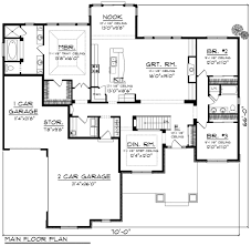 Split Floor Plan House Plans Ranch Style House Plan 3 Beds 2 00 Baths 2291 Sq Ft Plan 70 1170