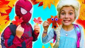 spiderman u0026 frozen elsa best fall craft for kids quick autumn
