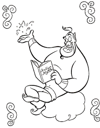 genie colouring pictures genie aladdin coloring pages cartoon