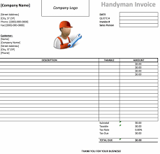 handyman invoice template invoice sample template