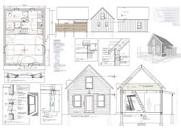 seth peterson cottage floor plan house elecations and sections cad 105