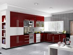 red kitchen furniture high gloss kitchen cabinet woodeck co ltd