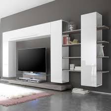 wohnzimmer m bel glänzend hochglanz wohnzimmer wohnwand sismael in weiß pharao24 de