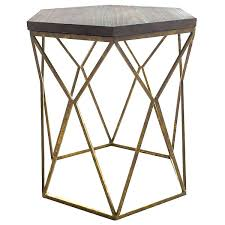 Industrial Accent Table Side Table Rustic Metal And Wood Side Table Industrial Metal And