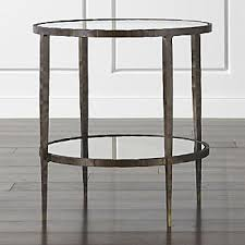 metal and glass end tables metal end tables crate and barrel