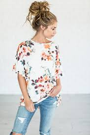 alexia floral top off white mindy mae u0027s market