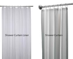 Shower Curtain Liners Shower Curtain Liner Vs Shower Curtain Homeverity
