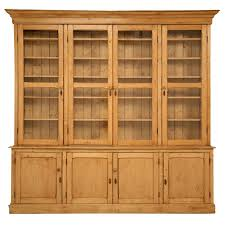 Kitchen Bookcases Cabinets Original Unrestored Antique English Pine China Cabinet Bookcase