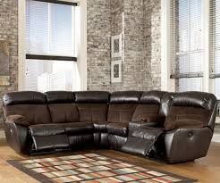 Reclining Sofa With Console by Signature Design By Ashley Berneen Coffee Reclining Sectional