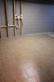 Diy Basement Flooring First Rate How To Tile A Basement Floor Concrete Basement Floor