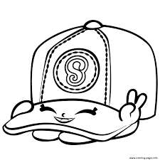 baseball casper cap shopkins season 3 coloring pages printable
