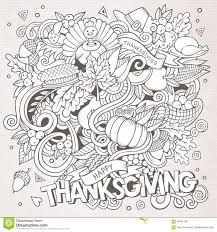 vector doodle thanksgiving stock vector image