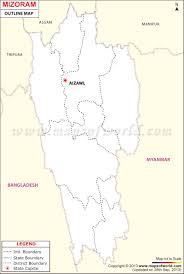 Blank India Map With State Boundaries by Outline Map