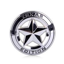 texas jeep stickers texas edition star logo metal emblem badge sticker for ford fender
