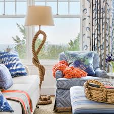 blue livingroom blue and white beach house decorating coastal living