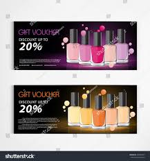 gift voucher nail polish bottle drop stock vector 428564017