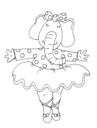 free dearie dolls digi stamps elephant ballerina