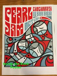 monster truck show cincinnati 10 1 14 pearl jam poster from cincinnati by don pendleton hangs