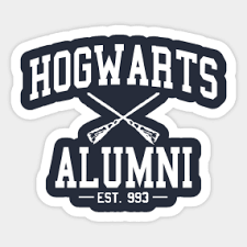 hogwarts alumni sticker alumni stickers teepublic