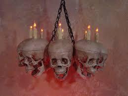 Halloween Chandeliers Life Size Skull Chandelier With 8 Skulls Skul 500 259 95