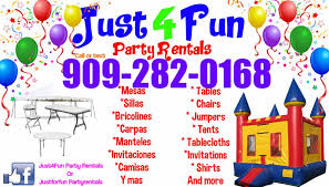 party rentals just4fun party rentals east hemet california