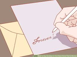4 ways to say goodbye to your best friend that is moving wikihow