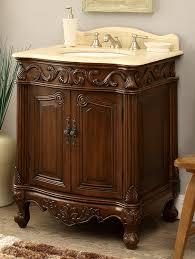 27 Inch Bathroom Vanity Adelina 27 Inch Antique Bathroom Vanity Wood Finish