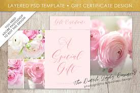 photography gift certificate photoshop template financial officer