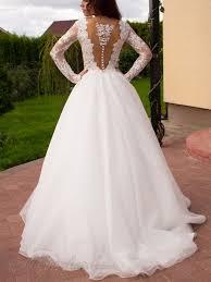 princesse robe de mariã e forme princesse robe de mariée en dentelle manche longue dos