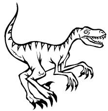 velociraptor clipart black and white collection