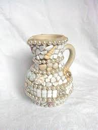 Vase With Pearls Wrapped In Pearls Mosaic Vase