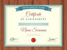 sample certificate of recognition template best design