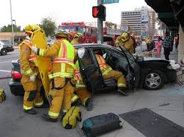pasadena flower fire rescue car crash crime scene