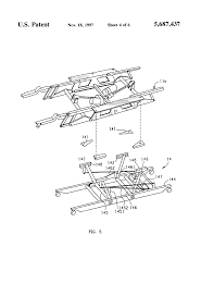 Patent Us5687437 Modular High Low Adjustable Bed Bases