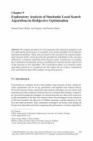 Chp Code 1141 Exploratory Analysis Of Stochastic Local Search Algorithms In
