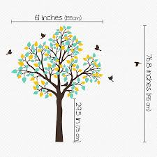 single tree with birds flying wall sticker by wall