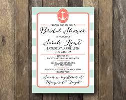 Nautical Bridal Shower Invitations Nautical Bridal Shower Invitation Printable Bridal Shower Invite