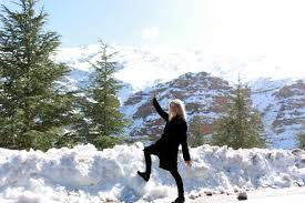 photos of snow yes there is snow in morocco and i saw it blondie in morocco