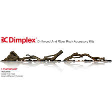 dimplex driftwood and river rock accessory kit for 34 inch