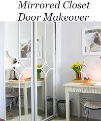 Updating Closet Doors Mirrored Closet Door Makeover Updated Jpg
