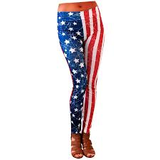 Red White Striped Flag American Flag Stars And Stripes Leggings Jeep Apparel