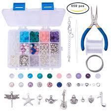 necklace making set images Sunnyclue 1 set 650 pcs luxury jewelry making kit beaded charm JPG