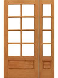 48 Exterior Door 8 Lite Mahogany Wood 1 Panel Ig Glass Side Light